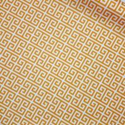 Hardal Sarısı Yunan Anahtarı Kumaş
