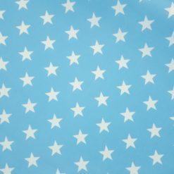 Mavi Büyük Yıldızlar Kumaş