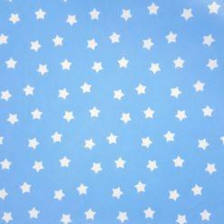 Mavi Küçük Sevimli Yıldızlar Kumaş