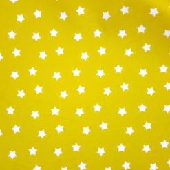 Sarı Küçük Sevimli Yıldızlar Kumaş