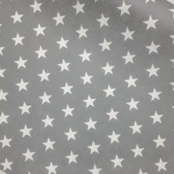 Gri Büyük Yıldızlar Kumaş