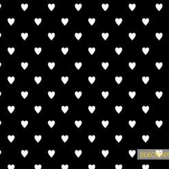 Kalp Desenli Kumaş