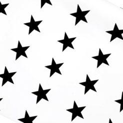 Siyah Büyük Yıldız Desenli Kumaş