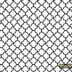 Siyah Çizgili Moroccan Kumaş