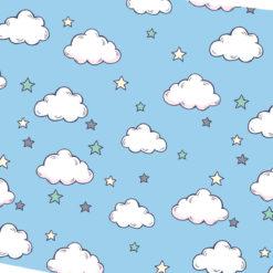 Mavi Bulutlu Kumaş