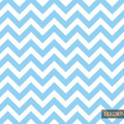 Mavi Zigzag Desenli Kumaş