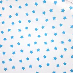 Mavi Yıldızlı Kumaş