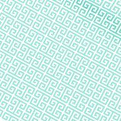 Mint Renkli Yunan Anahtarı Kumaş