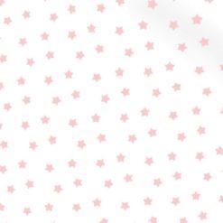Pembe Küçük Sevimli Yıldızlar Kumaş
