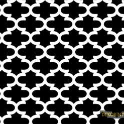 Siyah Moroccan Desenli Kumaş