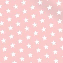 Pembe Zemin Yıldızlı Kumaş