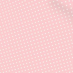 Pembe Puantiye Desenli Kumaş