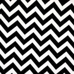Siyah Zigzag Desenli Kumaş