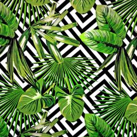 Tropikal Desenli Kumaş