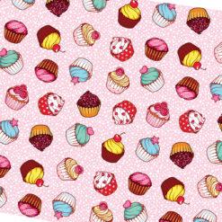 Cupcake Desenli Kumaş