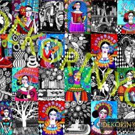 Frida Kahlo Patchwork Kumaş