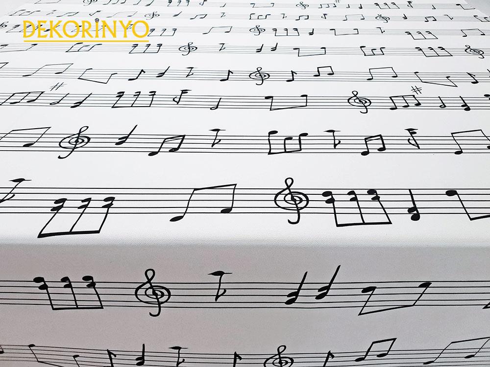 Muzik Notalari Kumas Ile Muzigi Salonlariniza Tasiyin Dekorinyo