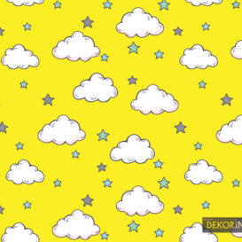 Sarı Bulutlu Kumaş