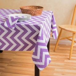 Lila Zigzag Masa Örtüsü
