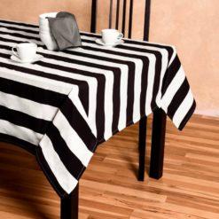 Siyah Çizgili Masa Örtüsü