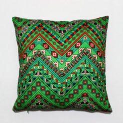 Etnik Aztek Yeşil Kırlent