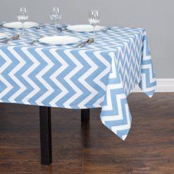 Mavi Zigzag Masa Örtüsü