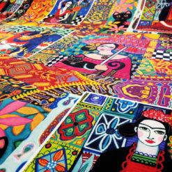 Frida Kahlo Desenli Kumaşlar