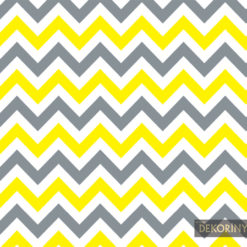 Sarı Gri Zigzag Desenli Kumaş