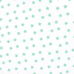 Mint Yıldızlı Kumaş