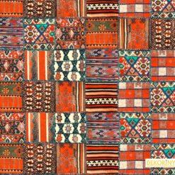 Osmanlı Kilim Desenli Kumaş