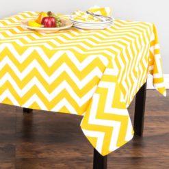Sarı Zigzag Masa Örtüsü