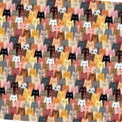Pastel Yavru Kediler Kumaş (3 cm)