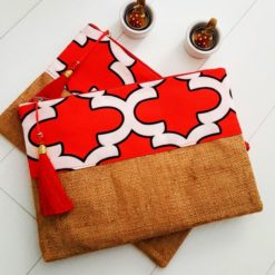 Kırmızı Moroccan Clutch