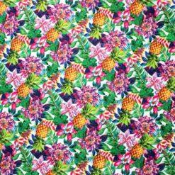 Yaz Çiçekleri ve Ananas Kumaş