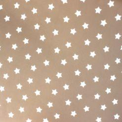 Sütlü Kahve Sevimli Yıldızlar Kumaş