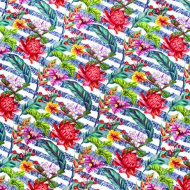 Neon Çiçekler Kumaş