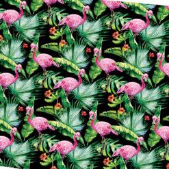 Tropikal Flamingolar Kumaş