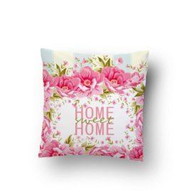 Home Sweet Home Çiçekli Kırlent