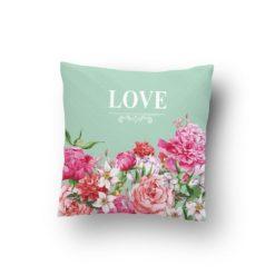 Çiçekli Love Kırlent
