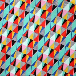 Artistik Rengarenk Üçgenler Kumaş