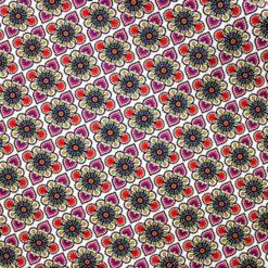 Damask Retro Çiçekler Kumaş