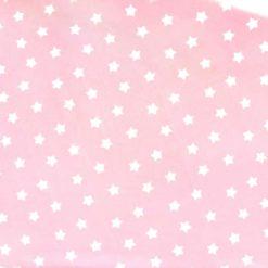Pembe Yıldız Desenli Kumaş