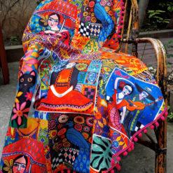 Frida Kahlo Koltuk Şalı