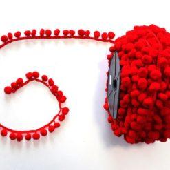 Kırmızı Ponpon Şerit