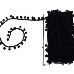 Siyah Ponpon Şerit