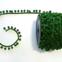 Koyu Yeşil Ponpon Şerit
