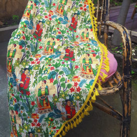 Frida Bahçesi Koltuk Şalı