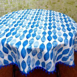 Mavi Dalgalar Masa Örtüsü