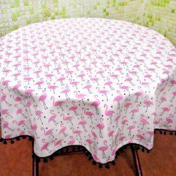 Pembe Flamingolu Masa Örtüsü