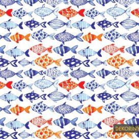 Suluboya Balıklar Kumaş